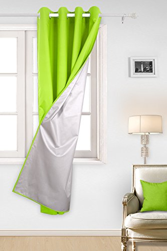 Deconovo Oxford Vorhänge für Wohnzimmer vorhang Gardinen 240x140 cm Grün (Duschvorhänge Stoff Kinder)