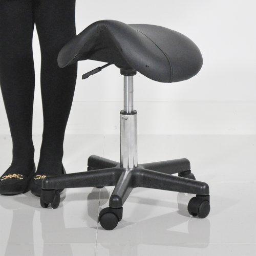 Sgabello da sella, colore: nero con massaggio Beauty Salon-Sgabello con sistema di sollevamento a Gas per Manicure sgabelli, colore: nero