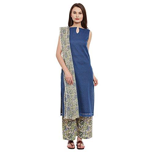 Dress Material by Pinkshink | Cotton Churidar/Salwar Kameez Blue Dress Material p153