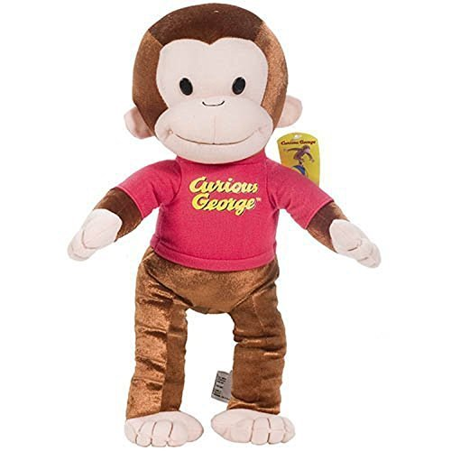 Curious George: Classic George in Red Shirt 13-inch Plush - Spielzeug Affe Der George