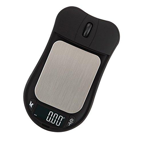 MagiDeal Mini digitale Taschenwaage Maus Form Feinwaage Digitalwaage Münzwaage Schmuckwaage mit LED-Anzeige,75x42mm - 500g 0,01g