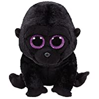 Ty - Beanie Boos George, Gorila, 15 cm, Color Negro (United Labels
