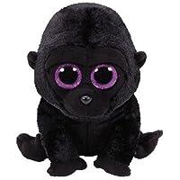 TY 37222 - George - Gorilla Pluschtier mit Glitzeraugen  Glubschi's  Beanie Boo's, 15 cm