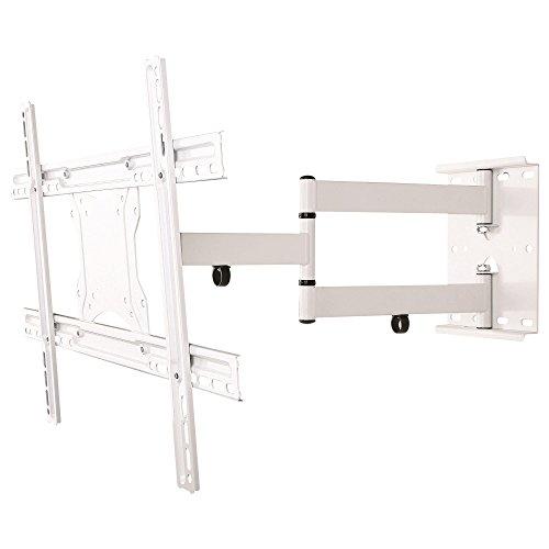 NEG Profi Universal TV-Wandhalterung ExTender 6012 (weiß) schwenk-, neig- und ausziehbar, bis VESA 600x400 und 45kg belastbar (Flachbild-tv Weiß)