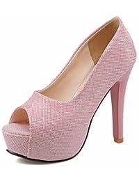ZQ Zapatos de mujer-Tac¨®n Robusto-Tacones-Tacones-Oficina y Trabajo / Vestido / Casual-Microfibra-Rosa / Blanco / Gris / Beige , white-us9 / eu40 / uk7 / cn41 , white-us9 / eu40 / uk7 / cn41