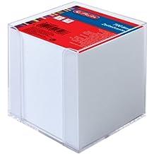 Herlitz 10410801 Zettelkasten 9x9x9cm transparent 700 Blatt weiß gefüllt