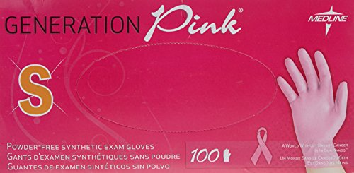 medline-small-pink-powder-free-vinyl-gloves-pack-of-100