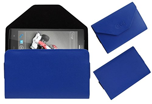 Acm Premium Pouch Case For Lava Xolo Q2000 Flip Flap Cover Holder Blue  available at amazon for Rs.329