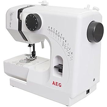 AEG NM 100/10K Mini-Nähmaschine, PVC, weiß, 29 x 13 x 24 cm: Amazon ...