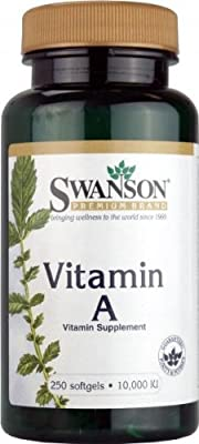 Swanson Vitamin A (10,000iu, 250 Softgels) by Swanson Health Products