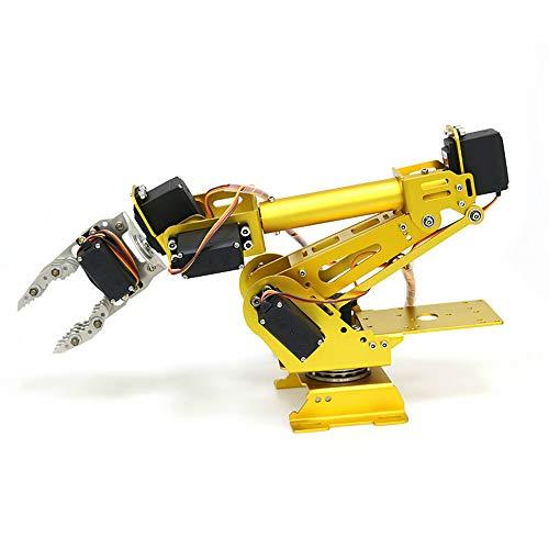 Baugger Aluminiumroboterarm - Roboterarm - 7 Dof Metal Claw Roboterarm mit...