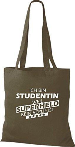 Tote Bag Shirtstown Sono Uno Studente Perché Il Supereroe Non È Una Professione Doliva