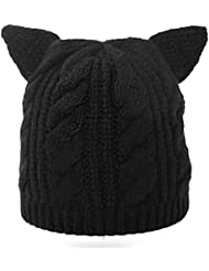 WXLQ Slouch Beanie Cap, Calentador de lana de punto de lana de punto , black , 56cm