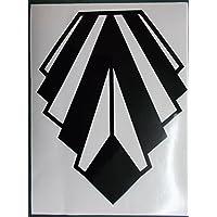 Advanced Printing Large Art Deco Style Gloss Black Wall Decoration Vinyl Sticker - Diamond Shape