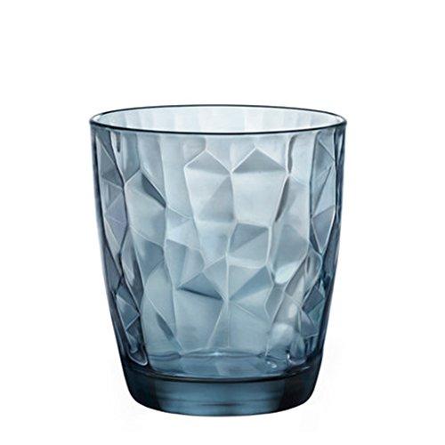 Tasses Mugs et soucoupes Tasses à Expresso Coupe Tumbler Bleu Transparent Coupe 10 oz Coupe Coupe Fraîche et Simple Coupe de Jus de Thé au Lait (Color : Blue, Size : M)