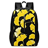Yellow Leaf Iconic Casual Campus Backpack Computer Bag Business Daypack Laptop Bag Schoolbag Book Bag 17 Inch