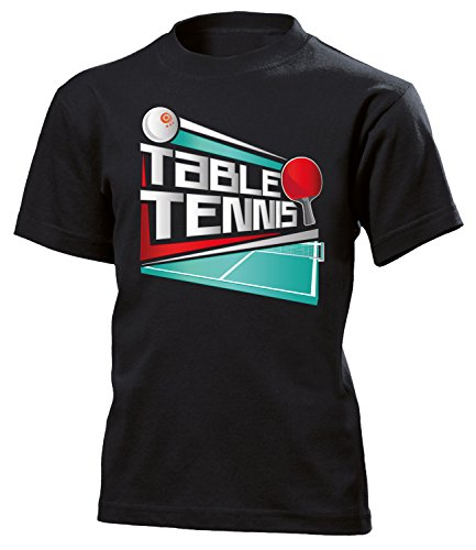 (Sport Table Tennis 5071 Shirt Tshirt Fanartikel Fanshirt Kids Jungen Mädchen Unisex Sportbekleidung Kinder T-Shirts Schwarz 140)