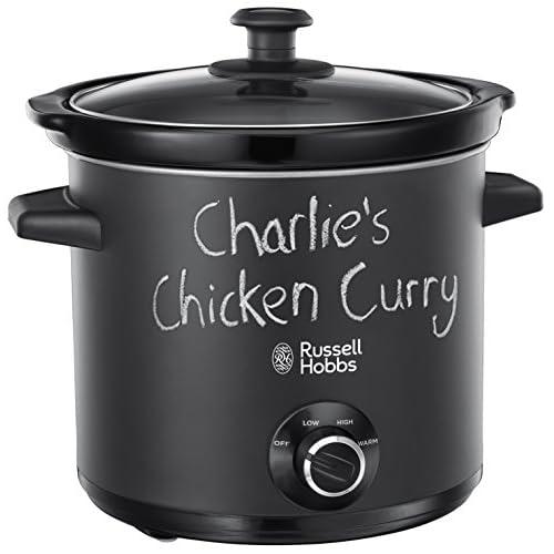 41DYt2HeseL. SS500  - Russell Hobbs 24180 Chalkboard Slow Cooker, 3.5 L, Black