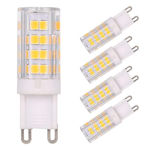 Tomshine 5er Pack 5W G9 LED Lampe 400 Lumen Warmweiß 3000K 51x2835 SMD ersetzt 45W Halogenlampen NICHT Dimmbar [Energieklasse A+] 45 Lumen-led