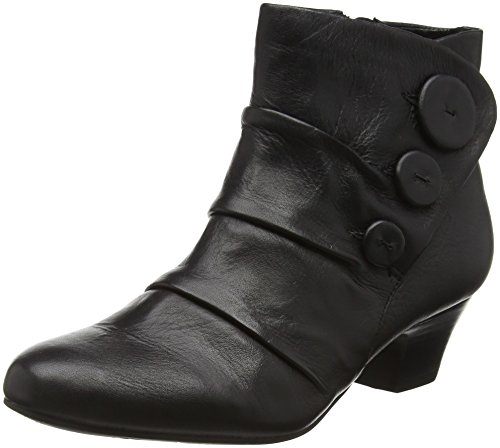 Lotus Women's Brisk Ankle Boots, Black (Black Leather), 6 UK 39 EU