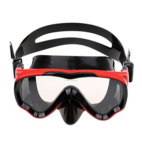 Sharplace Profi Taucherbrille Kinder Anti-Beschlag aus gehärtetem Glas, Unisex Tauchmaske für GoPro