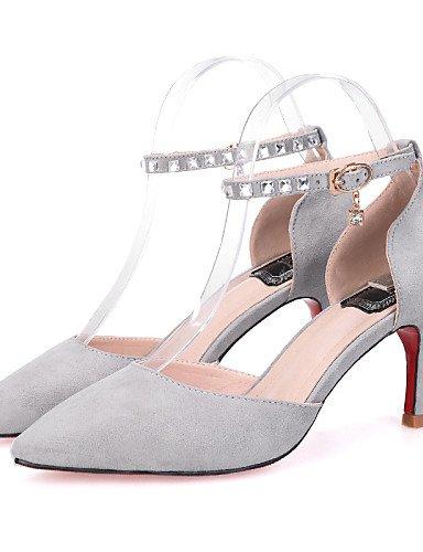 LFNLYX Chaussures Femme-Habillé-Noir / Jaune / Rose / Gris-Talon Aiguille-Talons / Bout Pointu / Bout Fermé-Sandales-Daim Yellow