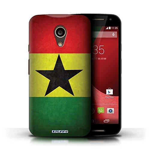 Kobalt® Imprimé Etui / Coque pour Motorola Moto G (2014) / Ghana conception / Série Drapeau Ghana