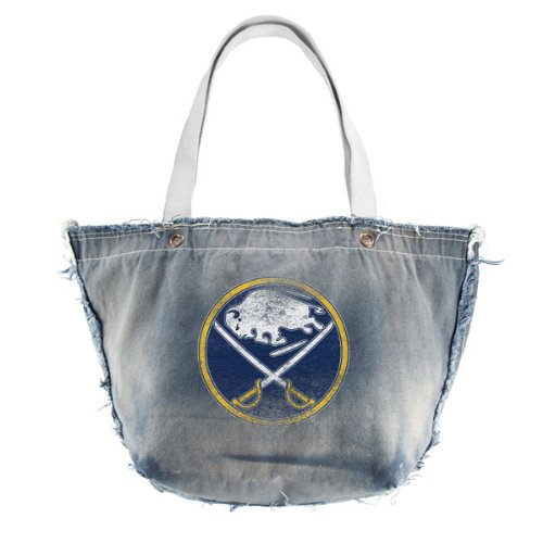 NHL Buffalo Säbel Vintage Tote, Denim Buffalo Denim