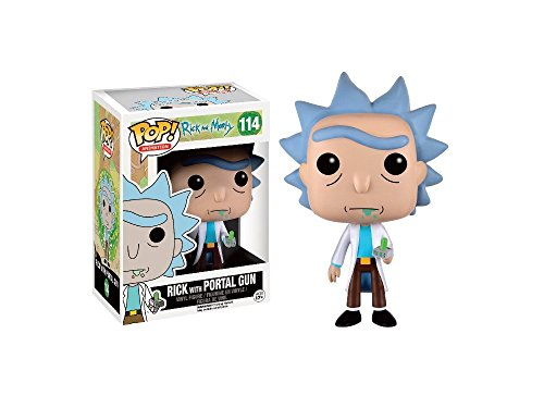 Funko - Figurine Rick et Morty - Rick With Portal Gun Exclu Pop 10cm -