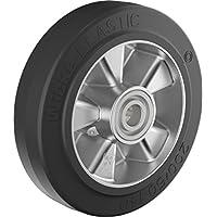Gummi Lenkrad 200 mm für Hubwagen mit Kugellager, Bohrung 20