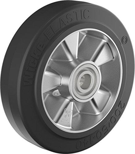 Gummi Lenkrad 200 mm für Hubwagen mit Kugellager, Bohrung 20 (200-20-60)