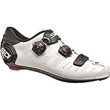 SIDI - Zapatillas de Ciclismo de Sintético para Hombre Blanco Blanco/Negro