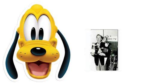 Pluto Karte Partei Gesichtsmasken (Maske) - Enthält 6X4 (15X10Cm) starfoto - Mickey Maus Und Pluto Kostüm