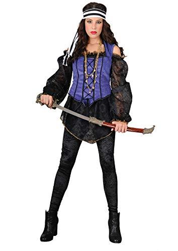 Aus Karibik Kostüm Der Fluch Elizabeth - Unbekannt Stamco, Kostüm Captain Morgan, Piratenkostüm für Damen