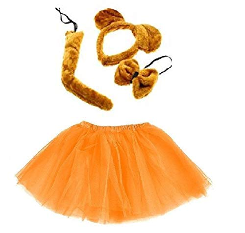 Unbekannt Kinder oder Damen Kostüm Set - Bär - Golden Bear Tutu Costume - vertrieb durch ABAV (Komplett Set Mädchen) (Goldene Bären Kostüm)