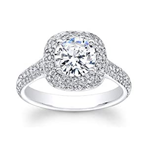 Damen-Ring Verlobungsring 14 Karat (750) Weißgold 1,95 Karat Diamant Größe Q P L K J H G N M