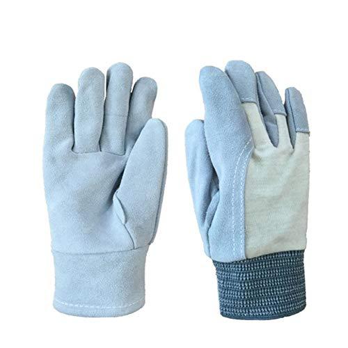 DMMW-Gardening Arbeitshandschuhe für Garten- und Hofarbeiten Handschuhe Gartenarbeit Versicherung rutschfeste Schweißen Baumwollstoff Stitching Geeignet für Home Exterior