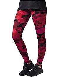 390199910 Logobeing Mujeres Yoga Entrenamiento Gimnasio Leggings Fitness Deportes  Pantalón Pantalones Atléticos. Mejor Deportes (Rojo