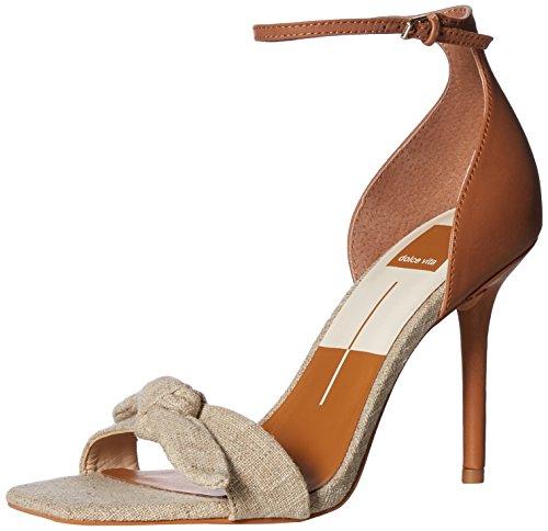 Dolce Vita-gladiator-sandalen (Dolce Vita Damen HELANA Sandalen mit Absatz, Natural Linen, 43 EU)