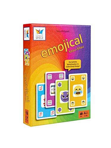 6045 - Emojical Mau-Mau - Spaßiges Kartenspiel für die ganze Familie - Geschenk / Mitbringspiel für Teenager (Mädchen Geburtstag-ideen)