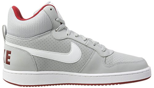 Nike Court Borough Mid, Baskets Homme Gris (Wolf Grey/white-gym Red)