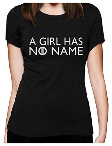 ultspruch Fanartikel Frauen T-Shirt Slim Fit Medium Schwarz ()