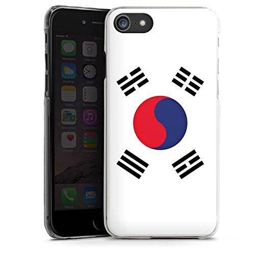 Apple iPhone X Silikon Hülle Case Schutzhülle Südkorea Flagge Korea Hard Case transparent