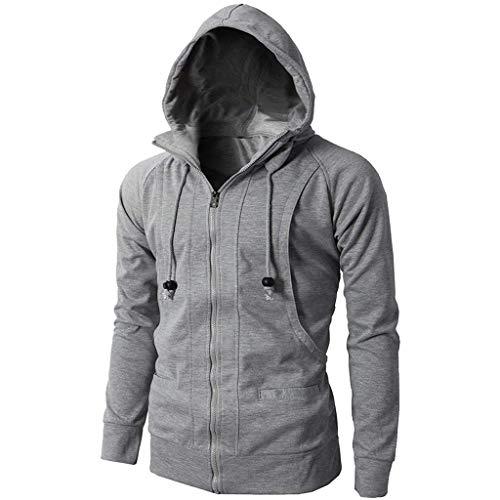 Qinsling felpe con cappuccio da uomo,maglione uomo cappotto primavera e autunno cerniera jacquard maniche lunghe vello hoodie distintivo sweatshirt camicetta dolcevita classico tops