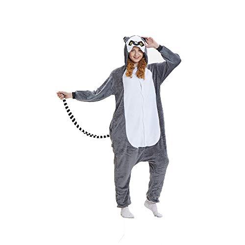 (NN IKEA Schlafanzug Tierkostüme Pyjamas Cartoon Cosplay Weihnachten Karneval,Gray,L)