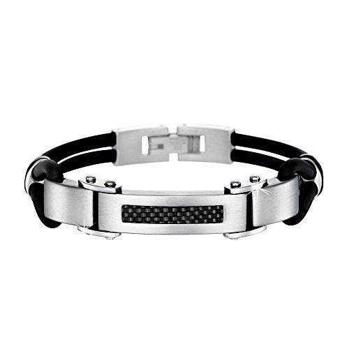 LS Armband Carbon-schwarz Edelstahl Lotus Style Herren Schmuck JLS1182-2-1 Carbon-armband Für Männer