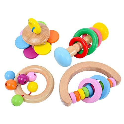 Blanketswarm Juego de 4 Piezas de Juguete para niños con sonajero para bebés de 0 a 18 Meses de Edad
