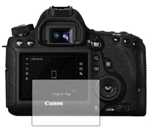 3 x Membrane Pellicola Protettiva Canon EOS 6D - Trasparente, Confezione ed accessori