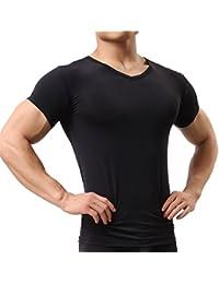 Herren Unterhemd aus Mesh Transparent Shirt Stretch T-shirt Unterwäsche  Reizwäsche bf86a2227d