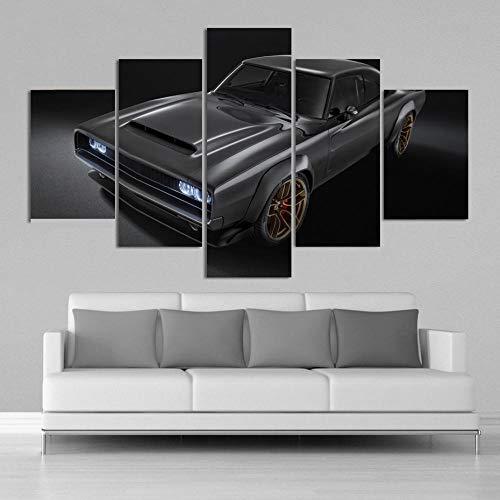 sanzx 1968 Dodge Super Charger Hd Konzeptauto Poster 5 Stücke Leinwand Malerei Druck Wandkunst Poster Wohnzimmer Home Decor30 * 40 * 2 30 * 60 * 2 30 * 80 cm Rahmenlose -